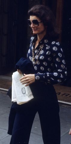 Jackie looking very chic and stylish