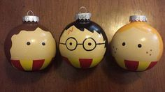 Everyones favorite wizards now available as ornaments! Choose from Harry Potter, Ron Weasley, or Hermione Granger. You may choose to