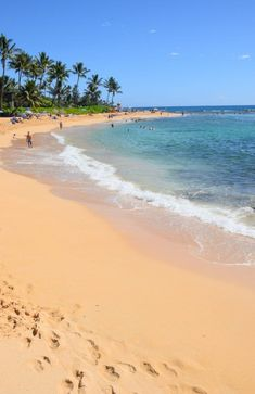 Poipu Beach - Kauai, Hawaii: While all Hawaiian beaches are public, guests of Marriott's Waiohai Beach Club enjoy a prime location on this pristine stretch of sand. #Travel #Beach #Kauai #Hawaii