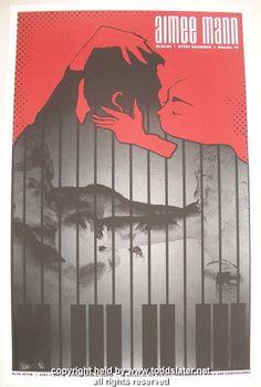 2005 Aimee Mann Silkscreen Concert Poster by Todd Slater