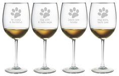 We should learn from our dogs.  Dog Wisdom Wine Glasses