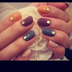 Different & we love it. Have fun when you're with your girls. #nailart #studs #nails