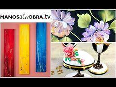 Pinceladas :  Flores en violeta    Caro - YouTube