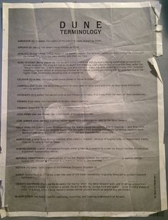 The Glossary Handed To Audiences of David Lynch's Dune - Flashbak Dune Frank Herbert, It Crowd, Mixed Emotions, Film, Spice, Character Design, Universe, History, Historia