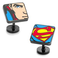 DC Comics Superman Comic Squares Cufflinks, Men's, multicolor