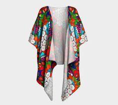 Bubble forest Draped Kimono, Draped Kimono by Iz FromEarth. Printed artwork Draped Kimono, available in silky knit and transparent chiffon fabric Chiffon Fabric, Artwork Prints, Bubbles, Kimono Top, Knitting, Clothes, Tops, Women, Fashion