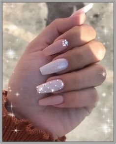 In look for some nail designs and ideas for your nails? Here's our set of must-try coffin acrylic nails for trendy women. Diamond Nail Designs, Pink Nail Designs, Acrylic Nail Designs, Nails Design, Pink Acrylic Nails, Purple Nails, Gel Nails, Coffin Nails, Manicure