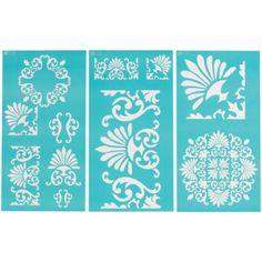 "Plaid:Craft  Martha Stewart Large Stencils 3 Sheets/Pkg-Tapestry 8.75""X16.75"" 11 Designs Plaid:Craft http://www.amazon.com/  $ 12.82 Prime"