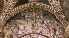 Subiaco. Sacro Speco di San Benedetto. Chiesa Superiore. Affreschi trecenteschi di scuola senese
