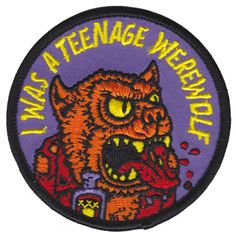 I Was A Teenage Werewolf Patch – Strange Ways Punk Patches, Cool Patches, Pin And Patches, Iron On Patches, Jacket Patches, Biker Patches, Teenage Werewolf, Ballerina Jewelry Box, Nerd Fashion