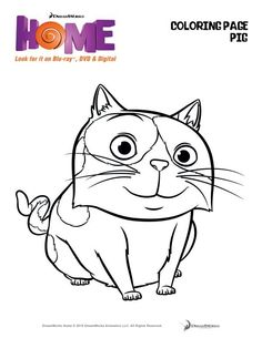 Celebrate family, friendship and fun in the surprise smash comedy hit of the year in DreamWorks HOME! Check out these fun activity sheets on Kidzworld! Animal Coloring Pages, Colouring Pages, Coloring Pages For Kids, Coloring Sheets, Coloring Books, Dreamworks Home, Dreamworks Animation, Online Coloring, Free Coloring