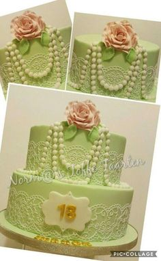Vintage Pearl & Lace  - Cake by NormaToffeTaarten