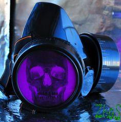 Black Cyber Mask Cyber Goth Respirator Gas Mask  by olnat31sun, $14.99