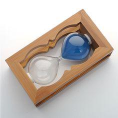 5/8/10/30 Min Wooden Hourglass Timer Clock Decor Home Garden Gift blue Design #koreaTWOMEN