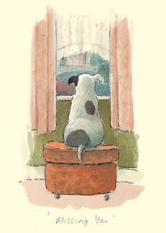 """""""MISSING YOU"""" by Alison Friend - A Two Bad Mice Greeting Card"""