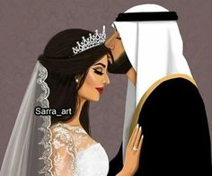 Image about art in girly_m by R on We Heart It Image Couple, Cute Couple Art, Cute Couples, Lovely Girl Image, Girls Image, Couples Muslim, Girly M Instagram, Instagram Wedding, Arab Bride