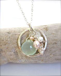 Hawaiian shell beach necklace - Summer time beachy jewelry - Made in Hawaii jewelry
