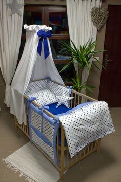 Sada do postýlky - hvězdičky modré Baby Crib Bedding, Baby Dolls, Baby Room Decor, Baby Sewing, Kids And Parenting, Interior And Exterior, Kids Room, Toddler Bed, Decoration
