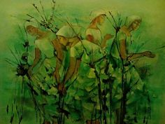 Anita Magsaysay-Ho, 'Women in a rice field' (s/d). Arte Filipino, Web Gallery Of Art, Painting & Drawing, Rice, Drawings, Women, Sketches, Drawing, Portrait