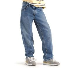 Lee Boys 8-20 Loose Straight Leg Jean,Medium Handsand,10  Slim (Apparel)