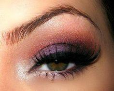 light purple & burgundy seductive look