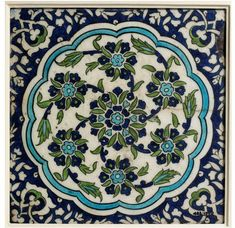 Tile | Made in Damascus, Syria, ca. 1550-1600 | Materials: