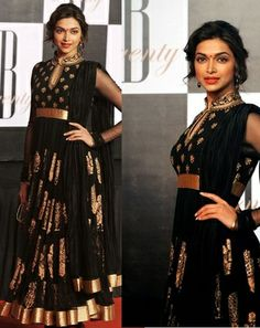 Buy latest Anarkali salwar kameez from our different range of Salwar suits online. Mirraw offers best discounts and deals on shopping for Indian Anarkali Dresses. Indian Anarkali Dresses, Black Anarkali, Indian Attire, Indian Wear, Deepika Padukone Dresses, Desi Wear, Dress Images, Alia Bhatt, Dress Picture