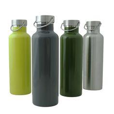 Thermos-Trinkflasche 750ml 'Insulated Bottle' Edelstahl - div. Farben