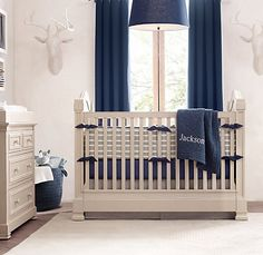 Vintage Ticking Stripe & European Vintage-Washed Percale Nursery Bedding Collection | Nursery Bedding Collections | Restoration Hardware Baby & Child