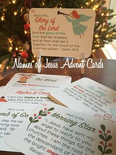 Names of Jesus Advent + Christmas Carol Advent Cards + Classic Advent Cards FREE PRINTABLES