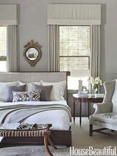 Love this gray bedroom ❤ { Benjamin Moore's Rockport Gray}