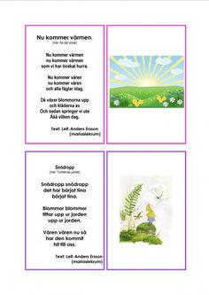 Mariaslekrum Learn Swedish, Swedish Language, Singing, Preschool, Learning, Montessori, Kids, Botany, Musik