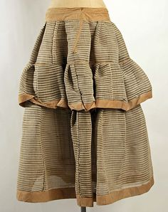1840s petticoat Culture:American or European Medium:horsehair, cotton | American or European | The Met