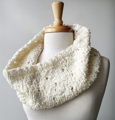 Winter Solstice Knit Cowl - Merino Wool and Cashmere Boucle Blend