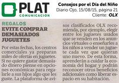 OLX: Recomendaciones por el Día del Niño en el diario Ojo de Perú (15/08/15)
