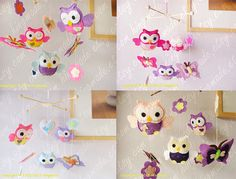 Baby Mobile Baby Crib Mobile Owl Mobile Butterfly by hingmade