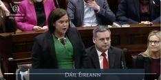 Mary Lou Mc Donald Delivers First Dail Speech - Fair Society Mcdonalds, First Time, Presidents, Irish, Mary, Politics, Irish People, Ireland
