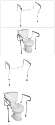 Toilet Frames And Commodes 171535: Toilet Safety Frame Grab Bars Elderly  Bathroom Seat Support Handrail
