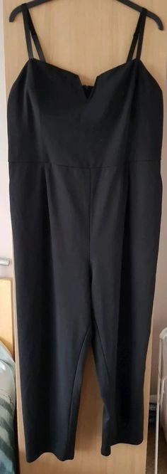 029f8bf6c56 NEW LOOK (CURVES) Ladies Black Playsuit - Sz  UK28  EU56 (Plus