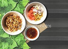 Savory Leaf Wraps with roasted coconut or Niang Kham in Thai name.