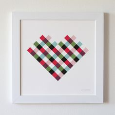 So simple and sweet. Plaid heart by Honey & Bloom.