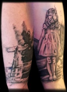 Girl in a gas mask by Rob #tattoos #ascendingkoi