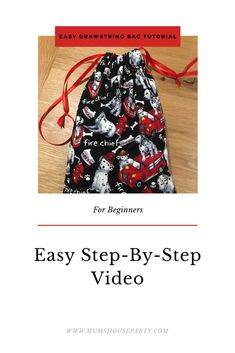Easy 30 Minute Drawstring Bag For Beginners Drawstring Bag Tutorials, Simple Bags, House Party, Posts, Group, Board, Easy, Blog, Messages
