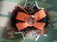 Camo Browning hair bow Stacked boutique over by southernlittlelady, $7.00