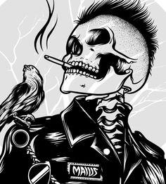 Fuckin me as a corpse Lost Soul Illustrations, Illustration Art, Poster S, Skull Tattoos, Tatoos, Arte Pop, Punk Art, Skull Design, Skull And Bones
