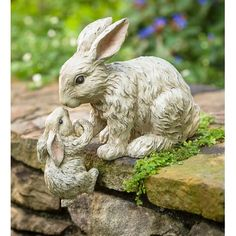 Helping Hand Rabbits Garden Accent is an uplifting accent that's sure to bring a smile. The big bunny offers a helping hand up to the little one in an endearing design that's perfect for garden wall, porch stairs or even indoors. Dog Lover Gifts, Dog Gifts, Dog Lovers, Big Bunny, Baby Bunnies, Easter Bunny, Rabbit Garden, Rabbit Art, Animal Statues