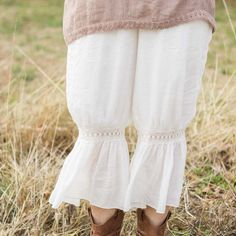 Lace Bloomer Pants