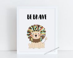 Items similar to Be Brave 8x10 Quote Printable Art Print Watercolor Arrow Wall Art Print Tribal Home Decor Inspirational Print Motivational Quote Paper Canoe on Etsy