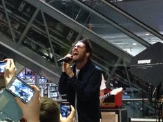 Josh Franceschi at the release of Cavalier Youth, HMV Glasgow