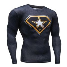 SuperHero Compression Long Sleeve T-Shirt Quick Dry Form Fit Muscle shirt